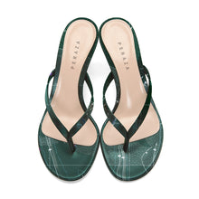 Load image into Gallery viewer, INVERTED HEVELIUS GREEN HEEL SANDALS