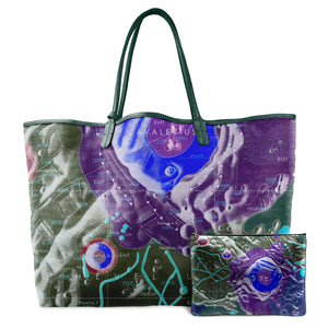 INVERTED HEVELIUS MULTICOLOR LEATHER TOTE
