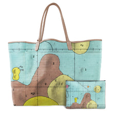 Load image into Gallery viewer, BONPLAND BLUE LEATHER TOTE