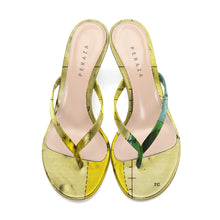 Load image into Gallery viewer, BONPLAND H YELLOW HEEL SANDALS