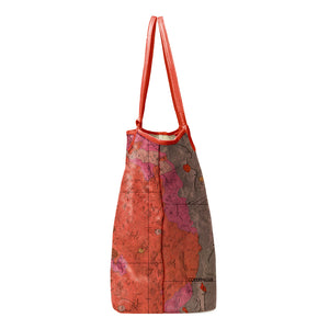 COPERNICUS RED LEATHER TOTE