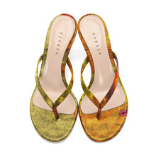 Load image into Gallery viewer, COPERNICUS YELLOW HEEL SANDALS