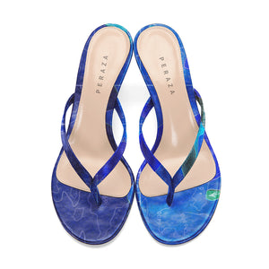 INVERTED COPERNICUS BLUE HEEL SANDALS