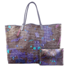 Load image into Gallery viewer, INVERTED OPPOLZER PURPLE LEATHER TOTE