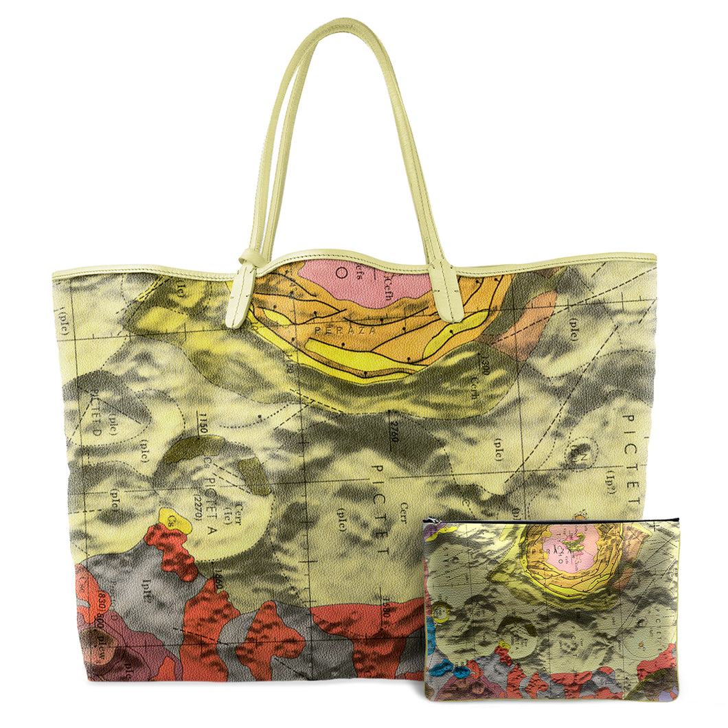 TYCHO YELLOW LEATHER TOTE