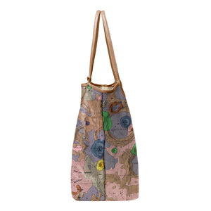 GEMINUS BROWN LEATHER TOTE