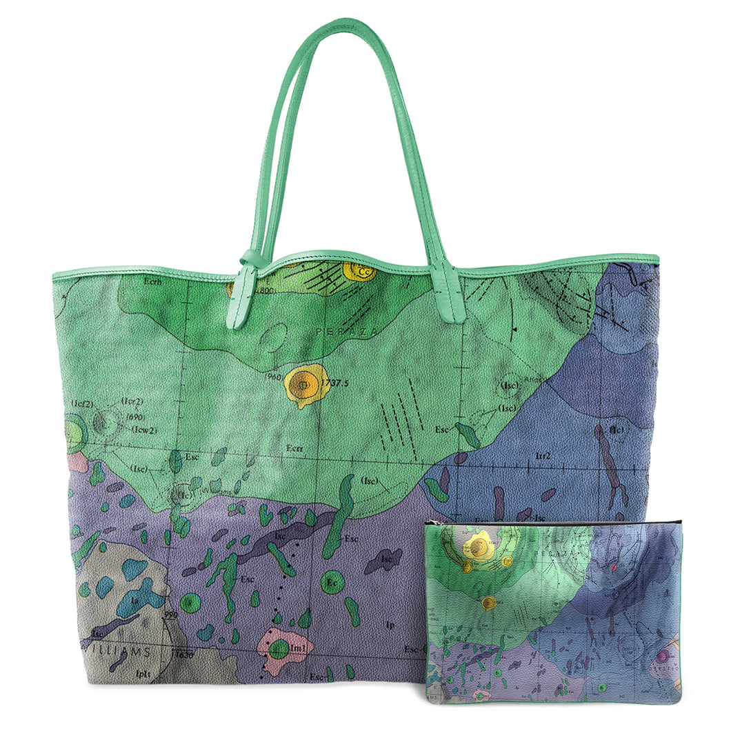 GEMINUS GREEN LEATHER TOTE