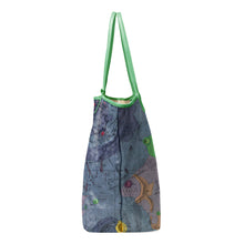 Load image into Gallery viewer, GEMINUS GREEN LEATHER TOTE