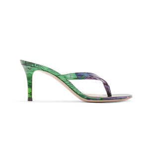 GEMINUS GREEN HEEL SANDALS