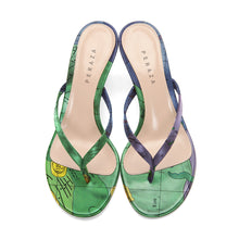 Load image into Gallery viewer, GEMINUS GREEN HEEL SANDALS