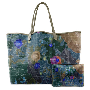INVERTED GEMINUS MULTICOLOR LEATHER TOTE