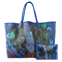 Load image into Gallery viewer, INVERTED ALPHONSUS COBALT LEATHER TOTE