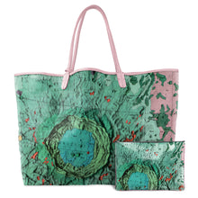 Load image into Gallery viewer, ARISTOTELES AQUA LEATHER TOTE