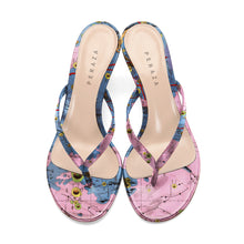Load image into Gallery viewer, RIPHAEUS PINK HEEL SANDALS