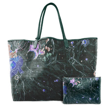Load image into Gallery viewer, INVERTED ARISTARCHUS GREEN LEATHER TOTE