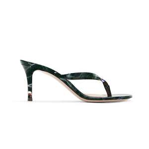 INVERTED ARISTARCHUS GREEN HEEL SANDALS