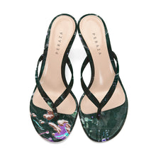 Load image into Gallery viewer, INVERTED ARISTARCHUS GREEN HEEL SANDALS