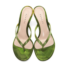 Load image into Gallery viewer, FRA MAURO GREEN HEEL SANDALS