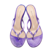 Load image into Gallery viewer, INVERTED FRA MAURO LAVENDER HEEL SANDALS