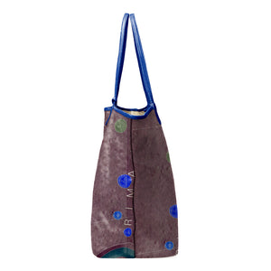 INVERTED APENNINE LAVENDER LEATHER TOTE