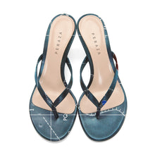 Load image into Gallery viewer, INVERTED BONPLAND BLUE HEEL SANDALS