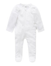 Load image into Gallery viewer, Purebaby Zip Growsuit