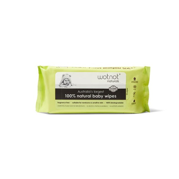 Wotnot Natural Baby Wipes (70 sheets)