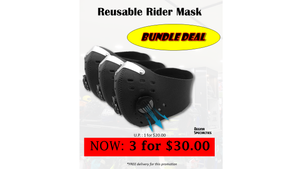 (Restocked!) Reusable Rider Mask Bundle Deal!