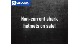 Clearance sale for non-current Shark helmet
