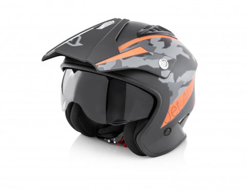 Acerbis Jet Aria Black/ Orange Helmet