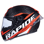 MT Helmets Rapide Pro Carbon Gloss Red Helmet