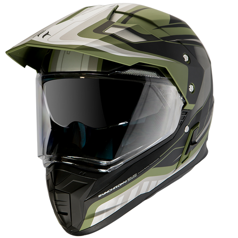 MT Helmets Synchrony SV Duo Sport Tourer Matt Green Military/ Black Helmet