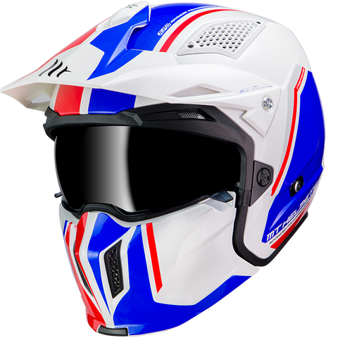 MT Helmets Streetfighter SV Twin B7 Gloss Pearl Blue Helmet