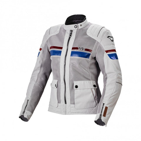 Macna Fluent Light Grey/Blue/Red Women Jacket