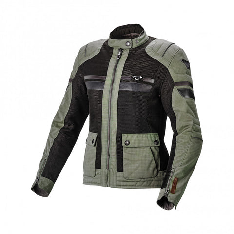 Macna Fluent Light Green/Black Women Jacket