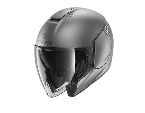 Shark City Cruiser Blank Mat Anthracite Helmet (AMA)