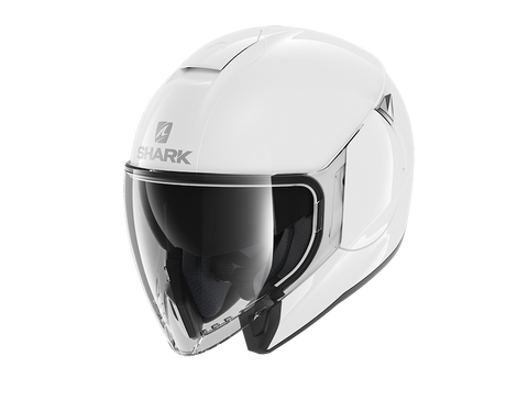 Shark City Cruiser Blank White Helmet (WHU)