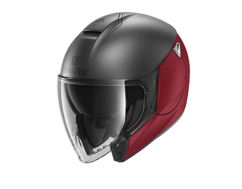 Shark City Cruiser Dual Blank Mat Red Anthracite Helmet (RAR)