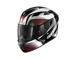Shark D-Skwal 2 Mercurium Black White Red Helmet (KWR)