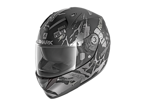 Shark Ridill Drift-R Mat Black Anthracite Silver Helmet (KAS)
