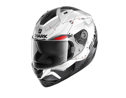 Shark Ridill Mecca White Black Red Helmet (WKR)