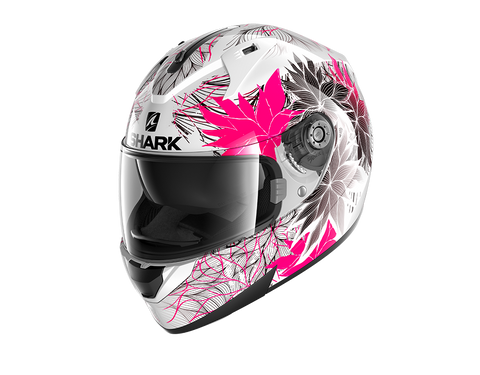 Shark Ridill Nelum White Black Violet Helmet (WKV)