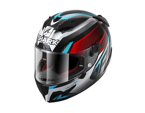 Shark Race-R Pro Carbon Red Blue Helmet (DRB)