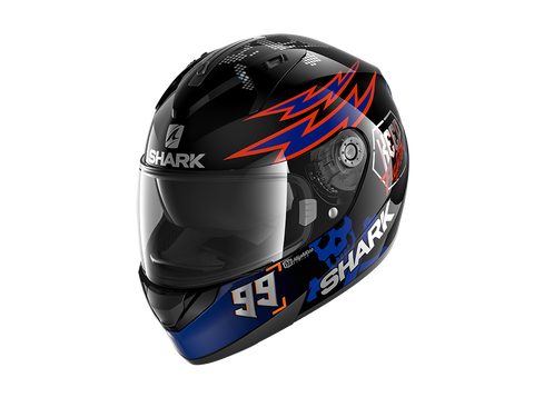 Shark Ridill Catalan Bad Boy Black Blue Orange Helmet (KBO)