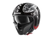 Shark S-Drak 2 Tripp In Black White Red Helmet (KWR)