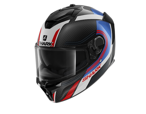 Shark Spartan GT Carbon Tracker Blue Red Helmet (DBR)