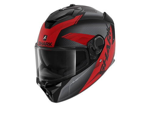 Shark Spartan GT Elgen Mat Black Anthracite Red Helmet (KAR)