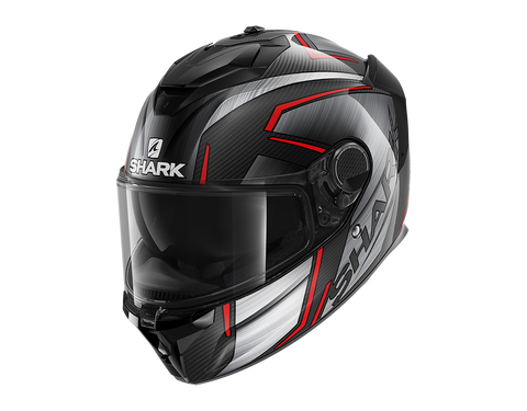 Shark Spartan GT Carbon Kormium Chrome Red Helmet (DUR)