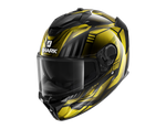 Shark Spartan GT Replikan Black Chrom Gold Helmet (KUQ)