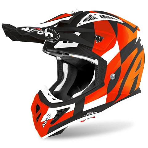 Airoh Aviator Ace Trick Orange Matt Helmet